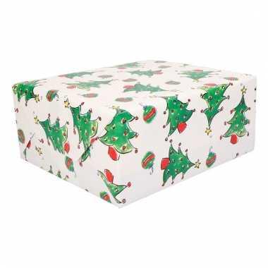 Rol inpakpapier kerst print 10