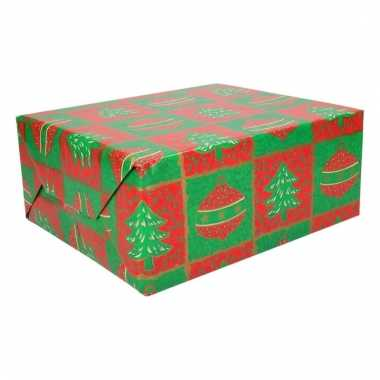 Rol inpakpapier kerst print 15