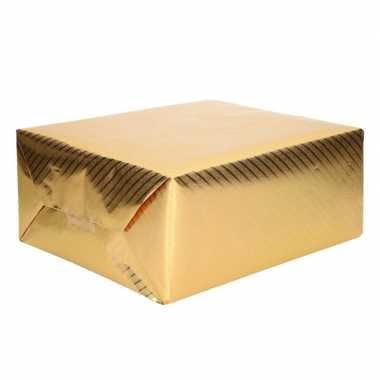Rol kadopapier met motief goud 200 cm type 2