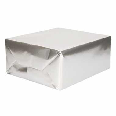 Rol kadopapier uni zilver 200 cm type 2