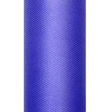 Rolletje tule stof blauw 15 cm breed