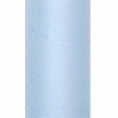 Rolletje tule stof lichtblauw 15 cm breed
