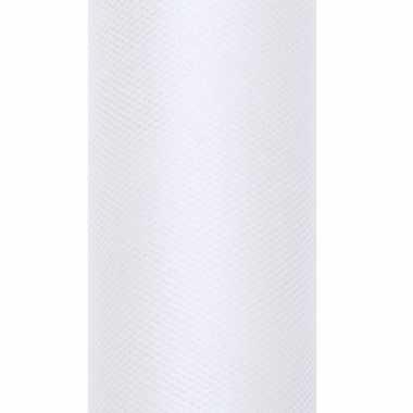 Rolletje tule stof wit 50 cm breed