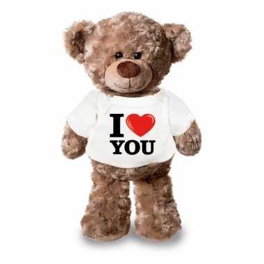 Romantisch cadeay i love you knuffel beer 24 cm