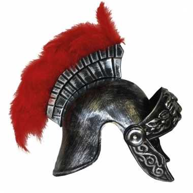 Romeinse helm met rode veer
