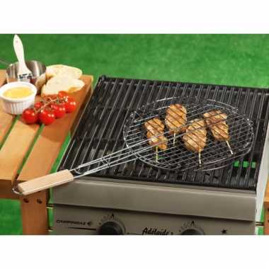Rond barbecue braadrooster
