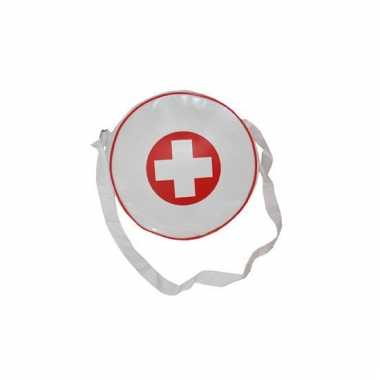 Rond handtasje wit voor arts