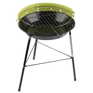 Ronde barbecue in de kleur groen