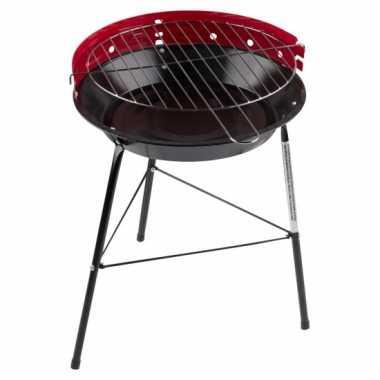 Ronde barbecue in de kleur rood