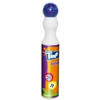 Ronde blauwe stift voor bingo 43 ml