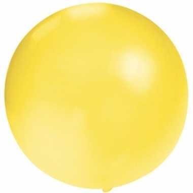 Ronde gele ballon 60 cm groot