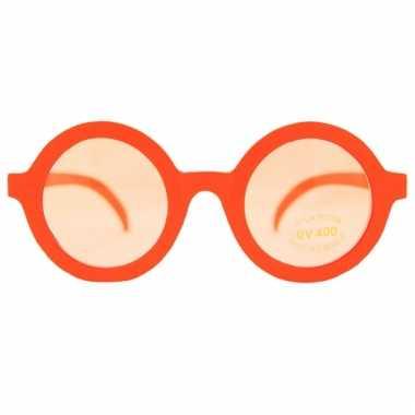 Ronde glazen bril oranje