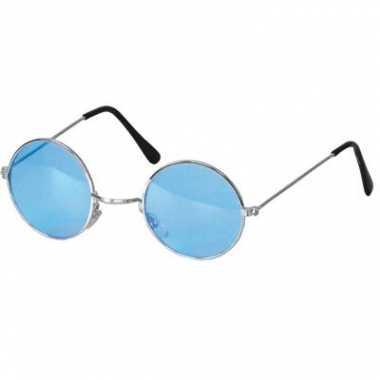 Ronde hippie bril blauw