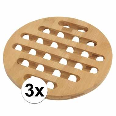 Ronde onderzetter voor pannen 3 stuks