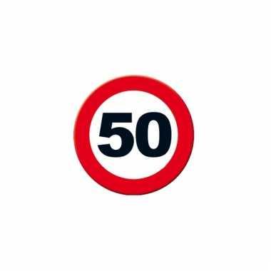 Ronde poster verkeersbord 50 jaar