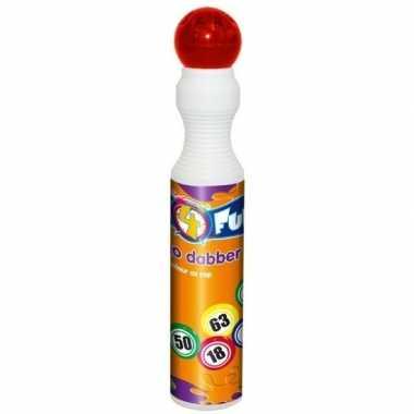Ronde rode stift voor bingo 43 ml