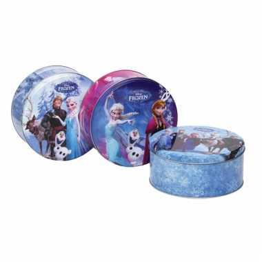 Ronde snoeptrommel van frozen blauw