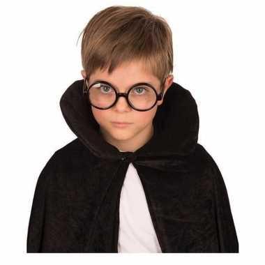 Ronde tovenaars bril zwart voor kinderen