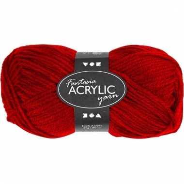 Rood acryl 3-draads garen 80 meter
