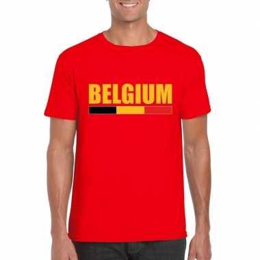 Rood belgium supporter shirt heren