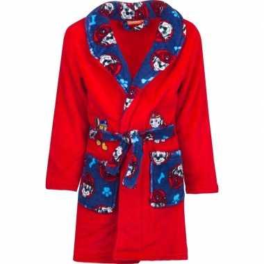 Rood/blauwe paw patrol kamerjas met capuchon voor jongens
