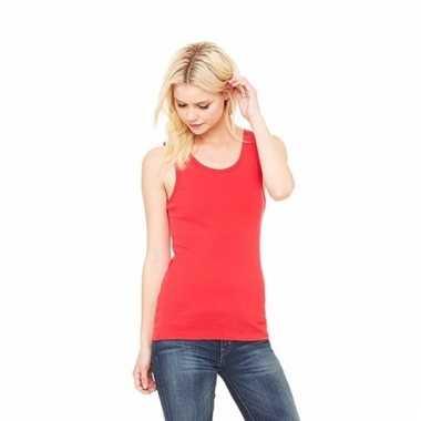 Rood dames shirt zonder mouwen