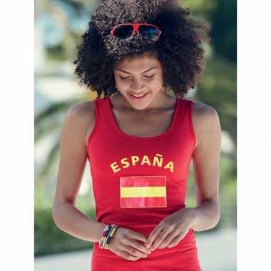 Rood dames shirtje met spaanse vlag