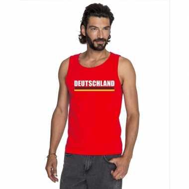 Rood duitsland supporter singlet shirt/ tanktop heren
