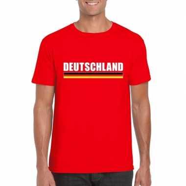 Rood duitsland supporter t-shirt voor heren