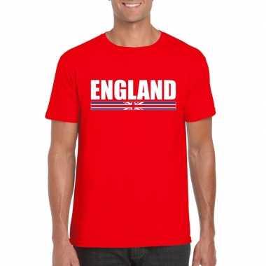 Rood engeland supporter t-shirt voor heren