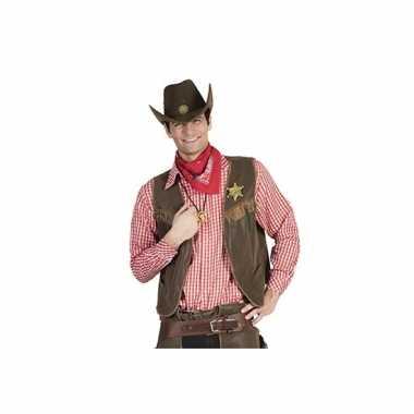 Rood geruit cowboy overhemd voor heren