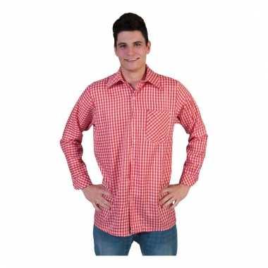 Rood Heren Overhemd.Rood Geruit Heren Overhemd Pchoofdstraat Nl