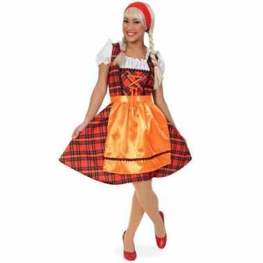 Rood geruit oktoberfest jurkje