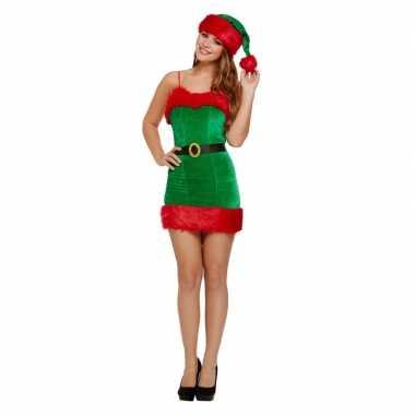 Rood/groen sexy jurkje voor kerst dames