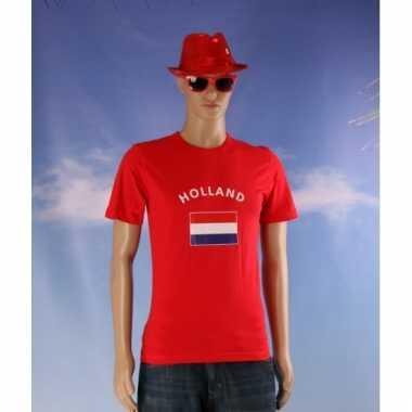 Rood heren shirtje met nederlandse vlag