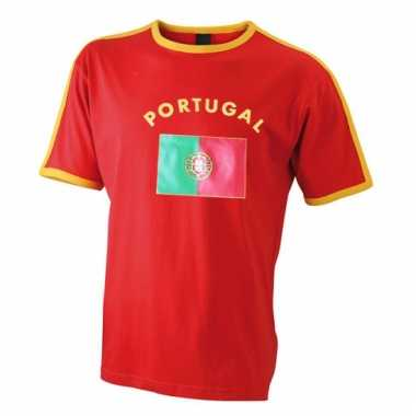 Rood heren shirtje portugese vlag