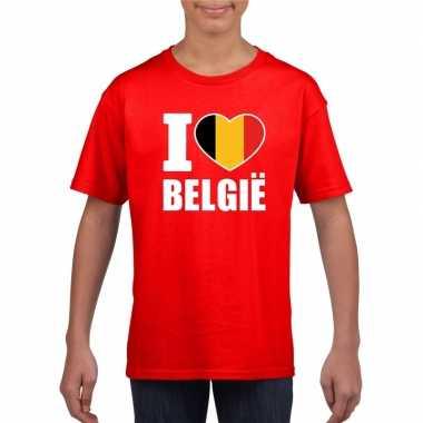 Rood i love belgie shirt kinderen
