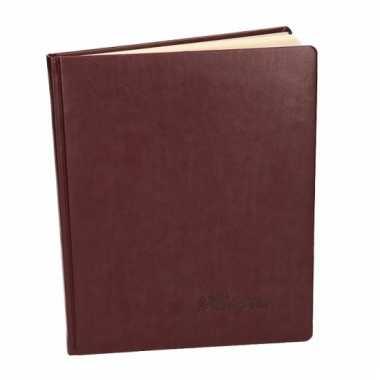 Rood trouwboekje deluxe 27 cm