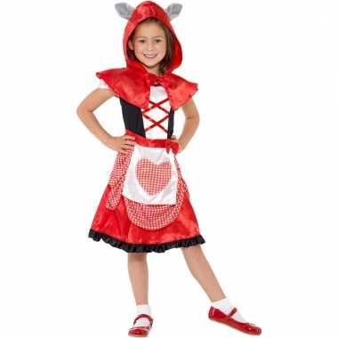 Roodkapje jurk met cape voor meisjes