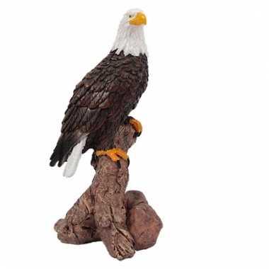 Roofvogel decoratie beeldje afdelaar 10 cm