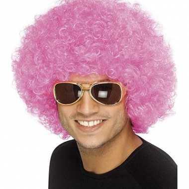 Roze afropruiken