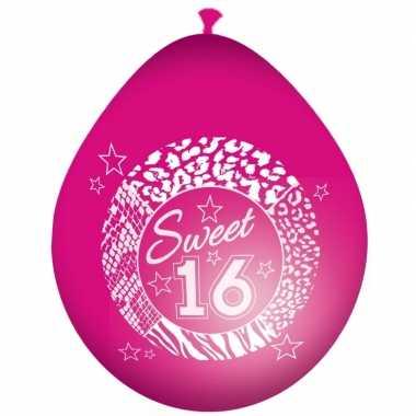 16de Verjaardag.Roze Balonnen Voor 16de Verjaardag