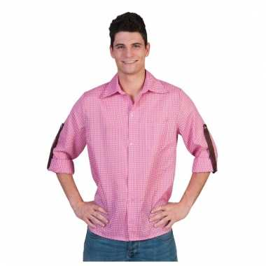 Heren Overhemd Roze.Roze Geruit Heren Overhemd Pchoofdstraat Nl