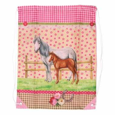 Roze gymtas paarden type 4