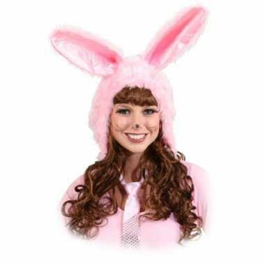 Roze konijnen oren van fleece