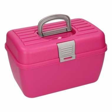 Roze naaidoos 28 cm