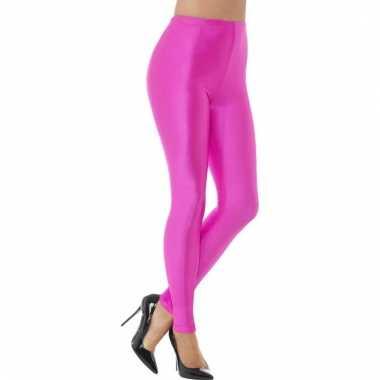 Roze spandex verkleed legging voor dames