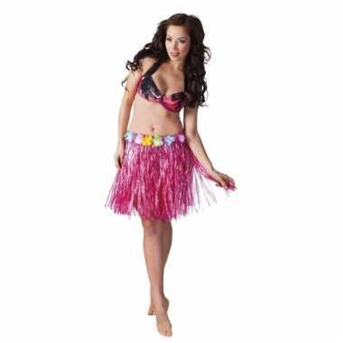 Roze tropisch strorokje voor dames