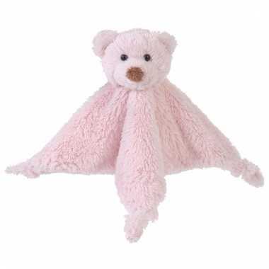 Roze tuttel knuffel lapje van een beer 20 cm