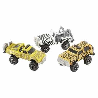 Safari auto giraf print 7 cm